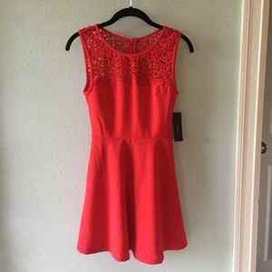 Lulu's Red Lace Skater Dress